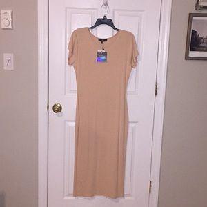 NWT Beige / Cream  Missguided midi dress
